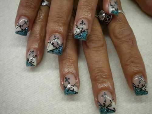 Ажурный дизайн ногтей