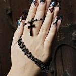 Дизайн ногтей «Блестящая мозаика»