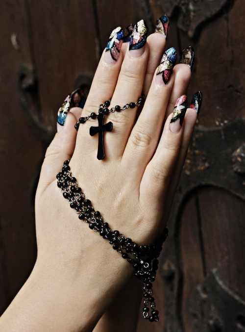 """Дизайн ногтей """"Блестящая мозаика"""""""