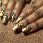 Дизайн ногтей «Бабочка Монарх»