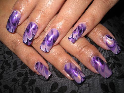 """Дизайн ногтей """"Фиолетовая фантазия"""""""