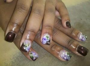 Дизайн ногтей «Цветочная композиция»