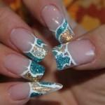 Дизайн ногтей «Зимний лёд»