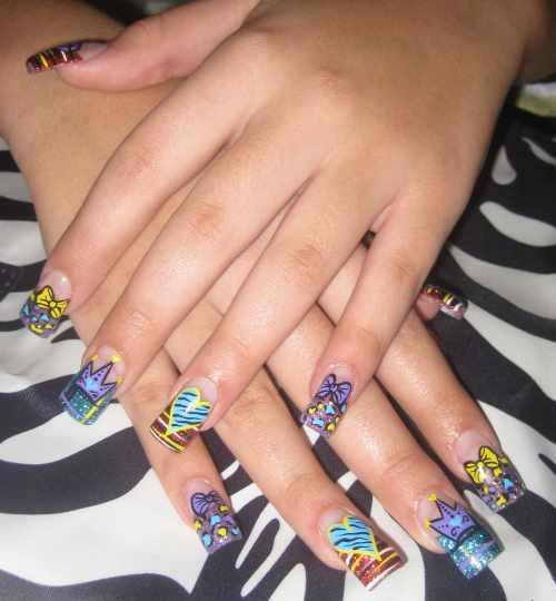 "Дизайн ногтей ""Нарисованное сердце"""