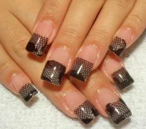Дизайн ногтей с кружевами