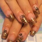 Дизайн ногтей «Тигриные полоски»