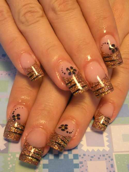 """Дизайн ногтей """"Тигриные полоски"""""""