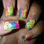 Дизайн ногтей «Яркая женщина»