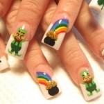 Дизайн ногтей «Горшочек золота»