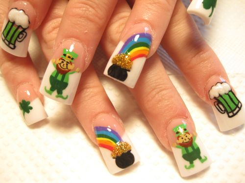 """Дизайн ногтей """"Горшочек золота"""""""