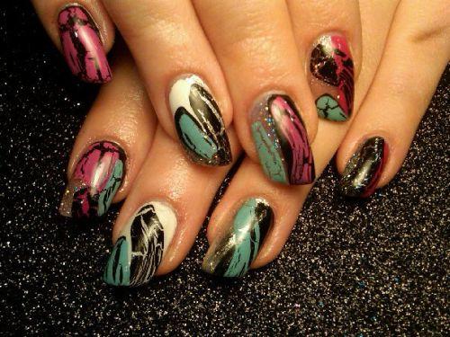 Дизайн ногтей с кракелированием
