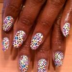Дизайн ногтей «Цветной леопард»