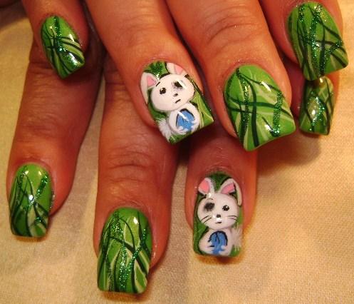 """Дизайн ногтей """"Пасхальный заяц"""""""