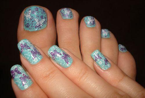 Дизайн ногтей с бабочками пошагово фото