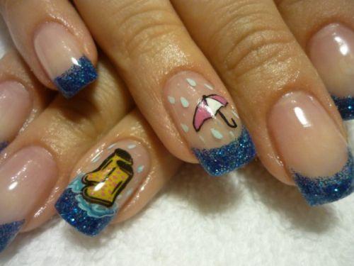 """Дизайн ногтей """"Апрельский дождь"""""""