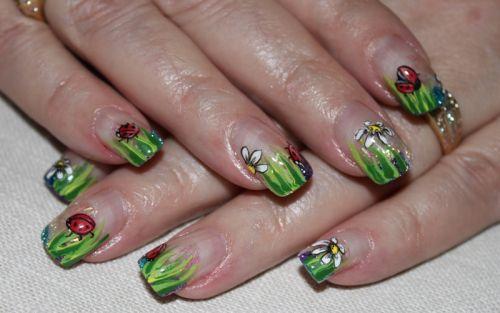 """Дизайн ногтей """"Божья коровка"""""""