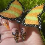 Дизайн ногтей с бабочкой