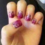 Дизайн ногтей «Вишневый градиент»