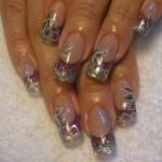 Дизайн ногтей «Цветочный блеск»