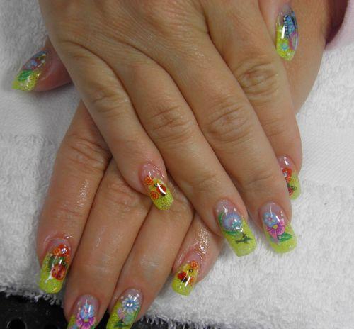 Дизайн ногтей с летними фимо