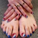 Дизайн ногтей «4 июля»