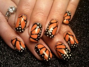 Дизайн ногтей «Крылья бабочки»