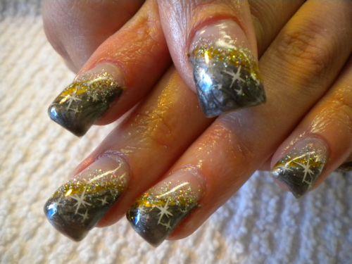 """Дизайн ногтей """"Звездная пыль"""""""