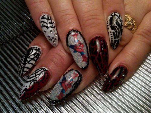 """Дизайн ногтей """"Человек-паук"""""""