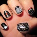 Дизайн ногтей с различными штампами