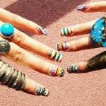Дизайн ногтей с первобытными мотивами
