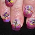 Дизайн ногтей «Полевые цветы»