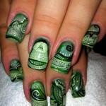 Дизайн ногтей «Ручные деньги»