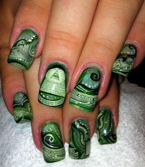 """Дизайн ногтей """"Ручные деньги"""""""