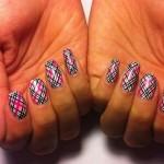 Дизайн ногтей «Клетчатый плед»