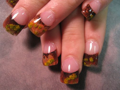 """Дизайн ногтей """"Опавшие листья"""""""