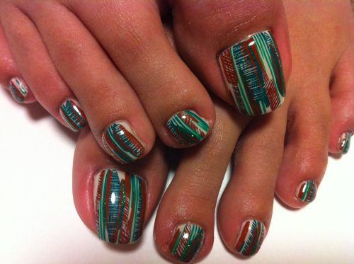 "Дизайн ногтей на ногах ""Джунгли"""