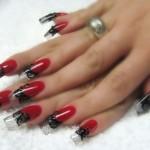 Дизайн ногтей «Мулен Руж»