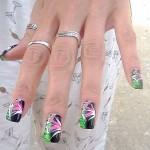 Дизайн ногтей «Мартини»
