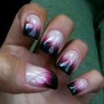 Дизайн ногтей «Языки пламени»