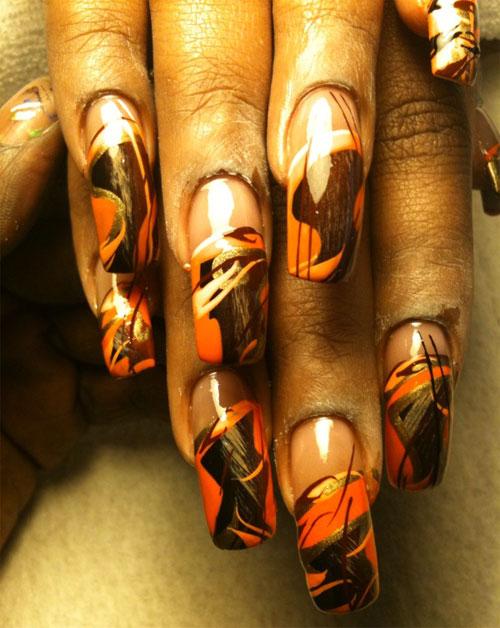 Дизайн ногтей с осенними мотивами