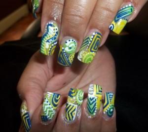 Цитрусовый дизайн ногтей