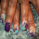 Дизайн ногтей с яркой мозаикой