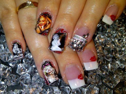 """Дизайн ногтей """"Мэрилин Монро"""""""