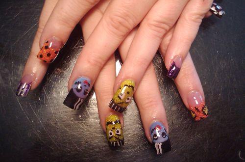 Дизайн ногтей для вечеринки Хэллоуин