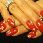 Дизайн ногтей «Новогодние снежинки»