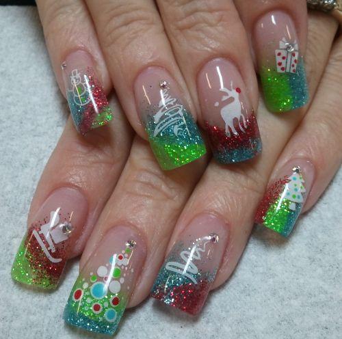 """Дизайн ногтей """"Новогодние мотивы"""""""