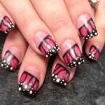 Дизайн ногтей «Крыло бабочки»