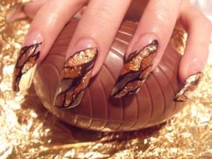 Дизайн «Золотые лепестки»