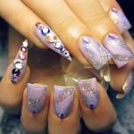 Дизайн ногтей с кристаллами Swarovski