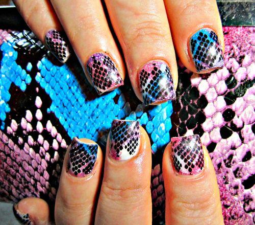 """Дизайн ногтей """"Змеиная кожа"""""""